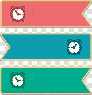 ilustrações de etiqueta de três relógios, Adobe Illustrator, caixa de texto de título png