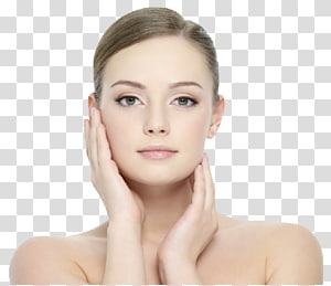 mulher tocando seu rosto, cosméticos beleza rosto pele facial, menina bonita PNG clipart