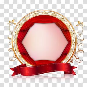 Newcastle vermelho, borda criativa dos namorados casamento, moldura vermelha e dourada png