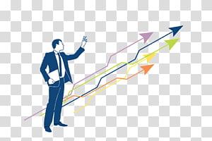 homem levantando a mão esquerda, gestão de marketing vendas negócios recursos humanos, crescimento seta PNG clipart