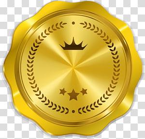 Símbolo de segurança Medalha de ouro Oferta inicial de moedas, medalha de ouro, ilustração de medalhão de ouro png