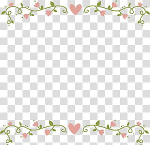 Flores cor de rosa, borda de flor rosa amor, ilustração de coração rosa png