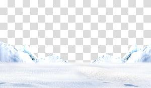 Inverno de céu azul, iceberg PNG clipart