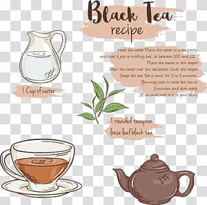 Earl Grey tea Xícara de café Menu, menu de chá png