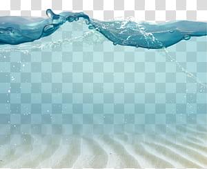 Gota d'água, desenho de ondas de material de gotas, marca d'água de fantasia do fundo do mar, ilustração de água png