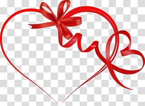 Coração dia dos namorados fita, fita coração s, gráfico de coração de fita vermelha png
