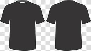 duas camisas cinzentas de gola redonda, t-shirt polo manga curta gola redonda, t-shirts PNG clipart