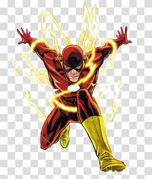 A ilustração do Flash, The Flash Camiseta Wally West Comic book, Flash png