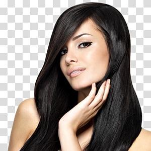 mulher com cabelo preto e olhos pretos close-up, salão de beleza penteado integrações artificiais alisamento de cabelo, cabelo de mulheres PNG clipart