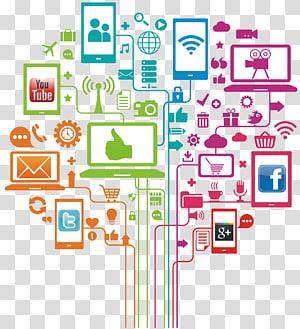 Logotipos do YouTube, Twitter, Google+ e Facebook, Marketing em mídias sociais Marketing digital, Marketing grátis PNG clipart