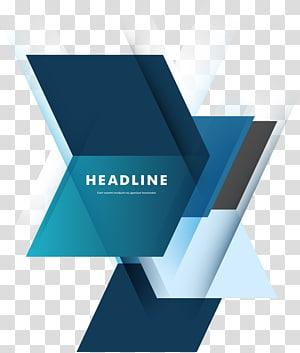 fundo azul Geometria, ilustração do logotipo de manchete PNG clipart