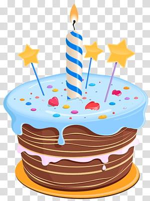 Bolo de aniversário Cupcake, bolo de aniversário com estrelas, bolo com ilustração de velas png