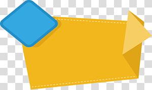 fita amarela e azul, modelo de cor RGB amarelo, software, caixa de título em papel amarelo png
