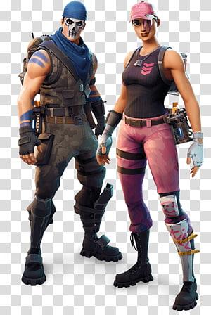 Fortnite Battle Royale Jogo para PlayStation 4 Vídeo game Battle royale, skin, duas ilustrações de personagens de Fortnite png