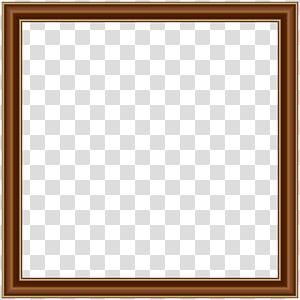 Moldura quadrada Área jogo de tabuleiro padrão, moldura de borda de ouro marrom, moldura de madeira marrom PNG clipart