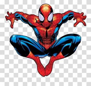 Ultimate Spider-Man Ultimate Comics: Spider-Man Comic book, Ultimate Spiderman, ilustração em vermelho e azul do Spider-Man png