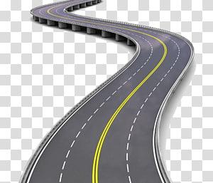 ponte em zigue-zague de escala animada, tráfego sem fio de veículo com sensor de carro, estrada png