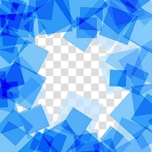 Quadrado, material de fundo abstrato quadrado azul, borda azul png