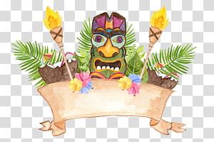 luau de Havaí, tartaruga da aguarela png