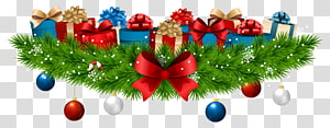 enfeites com caixas de presente, decoração de Natal presente, decoração de Natal com presentes PNG clipart