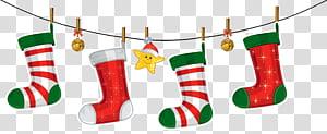Decoração de natal Enfeite de natal Papai Noel, enfeites de natal Decoração, meias de Natal png