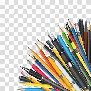 canetas sortidas, papel colorido lápis papelaria, caneta PNG clipart