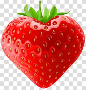 ilustração de fruta morango, coração de leite com morango, morango png