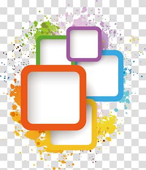 Ilustração do Adobe Illustrator, elemento da caixa de tinta, cores sortidas PNG clipart