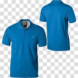 colagem de camisa polo azul, camisa polo camiseta, camisa polo PNG clipart