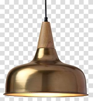 luminária redonda cor de latão, diodo emissor de luz Luminária incandescente, luminária pendente PNG clipart