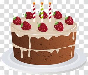 ilustração animada de bolo redondo, bolo de aniversário de mousse Streusel, bolo de aniversário png