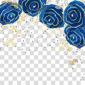 Flor rosa azul, fundo rosa azul, flores azuis png