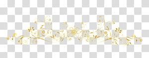 Padrão branco, linhas de moldura de ouro europeu, floral amarelo png