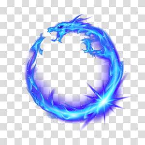ilustração do dragão azul, combustão de fogo de chama, dragão azul png