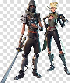 personagem de anime masculino e feminino segurando espadas ilustração, fortnite batalha royale playstation 4 campos de batalha do playerunknown, jogo de royale de batalha, outros png