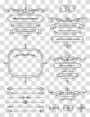 Logotipo do casamento, borda padrão png