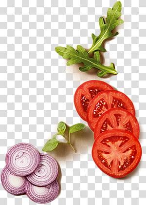 fatia de tomate, cebola e vegetais de folhas verdes, suco de tomate Hamburger cebola, flocos de vegetais de cebola tomate PNG clipart