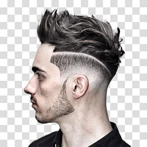 Ilustração de corte de cabelo masculino, Penteado PNG clipart