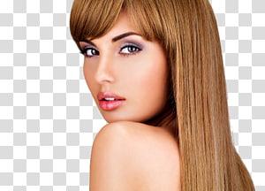 rosto de mulher, penteado salão de beleza modelo cabeleireiro, modelo de maquiagem PNG clipart