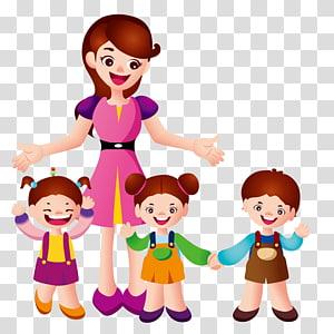 fêmea ao lado de crianças, Aluno professor Aluno professor Educação Estudante, Alunos e professores PNG clipart