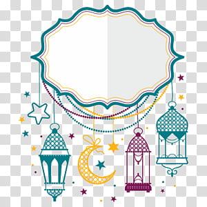 Eid Mubarak Eid al-Fitr Eid al-Adha, lua, quadro branco e multicolorido png