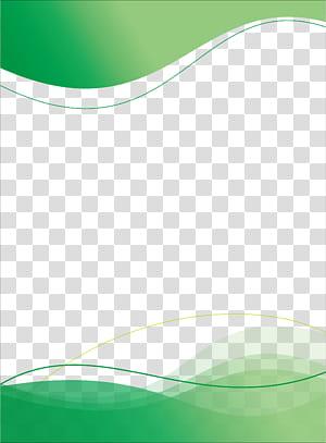 Padrão verde, modelo de cartaz, onda azul e verde png