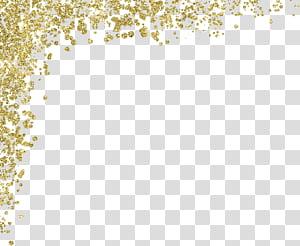 Material de glitter dourado, ouro PNG clipart