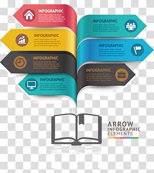 Elementos de infográfico, ícone de gráfico infográfico, livro de gráfico de PPT png