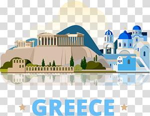 acrópole, e, azul, cúpula, em, grécia, ilustração, atenas, santorini, antiga, grécia, grécia, viagem PNG clipart