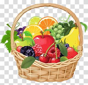 Cesta de frutas, cesta de frutas, variedade de frutas na ilustração da cesta png