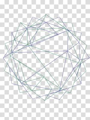 Polígono linha geometria euclidiana, fundo abstrato geometria, ilustração de cordas verdes e azuis PNG clipart