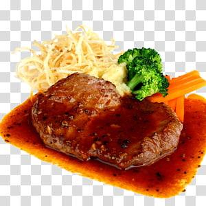 Bife da cozinha europeia Churrasco Takoyaki Teriyaki, brócolis com bife de pimenta preta PNG clipart