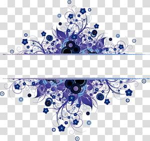 Textura, textura Grátis material de fivela de borda azul, modelo de borda floral roxa png