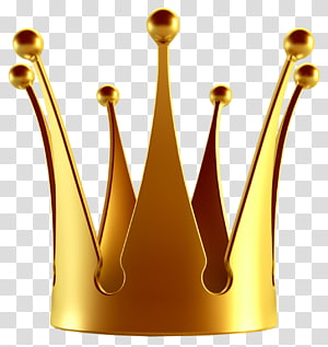 Coroa, coroa de ouro, ilustração marrom dourada PNG clipart